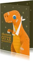 Karte zur guten Besserung Dino mit Verband