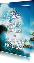 Keep Calm Summer Holiday golf - SG