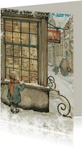 Kerkstkaart - Anton Pieck illustratie kindje voor etalage