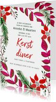 Kerst diner botanisch kerst takjes
