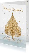 Kerst kerstboom glitter