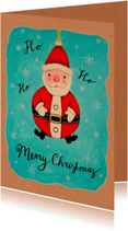 Kerst kerstman decoratie retro - HR