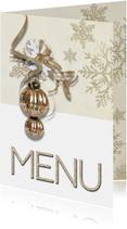 Kerst menukaart trendy chique SG