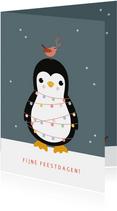 Kerst - Pinguin met lampjes
