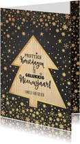 Kerst sfeervolle kaart krijtbord met kerstboom hout look
