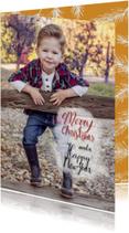 Kerst takjes fotokaart