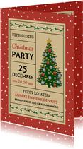 Kerst uitnodiging voor Christmas Party met kerstboom
