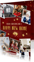 Kerst verhuiskaart fotocollage polaroids- happy new home