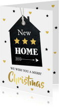 Kerst verhuiskaart label huis - LB