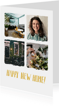 kerst verhuiskaart met 4 eigen foto's