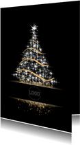 Kerstboom zwart met kader