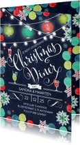 Kerstdiner Kerst Uitnodiging