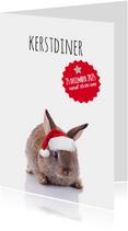 Kerstdiner konijntje