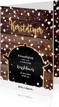 Kerstdiner originele winterse uitnodiging