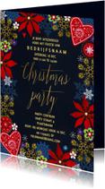 Kerstfeest uitnodiging Goud