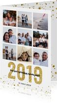 Kerstkaart 2019 Goud letters groot