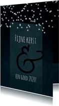 Kerstkaart 2020, donkerblauw, sterretjes en mooie typografie