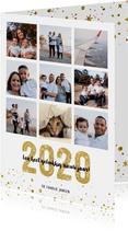 Kerstkaart 2020 Goud letters groot