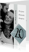 Kerstkaart 2020, modern en eenvoudig met foto