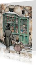 Kerstkaart - Anton Pieck illustratie voor de bakkerij