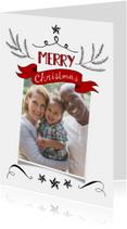 Kerstkaart banner klassiek fotokaart