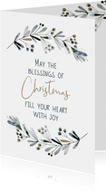 Kerstkaart Blessings of Christmas