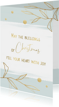 Kerstkaart Blessings, touch of gold