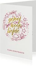 Kerstkaart christelijk illustratie geloof hoop liefde