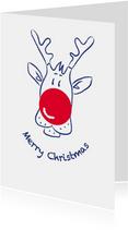 Kerstkaart CliniClowns Rudolph 2