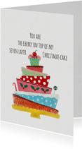 Kerstkaart CliniClowns taart