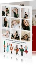 Kerstkaart collage notenkraker ballet