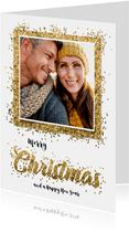 Kerstkaart confetti Christmas en eigen foto