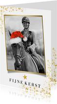 Kerstkaart eigen foto paard