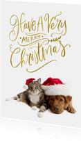 Kerstkaart eigen huisdier Have a Very Merry Christmas