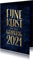 Kerstkaart Fijne Kerst Gelukkig 2021