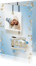 Kerstkaart foto en ster 2020