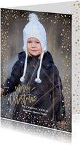 Kerstkaart Goud Confetti glitter