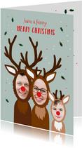 Kerstkaart grappig samen met je kind