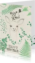 Kerstkaarten - Kerstkaart Green dear
