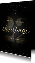 Kerstkaart grote 22 met handgeschreven christmas