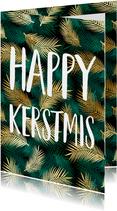 Kerstkaart Happy kerstmis botanisch
