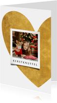 Kerstkaart hart van goud met foto