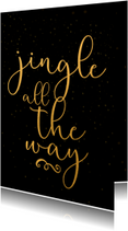 Kerstkaart jingle all the way