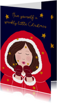 Kerstkaart kerstvrouw CliniClowns