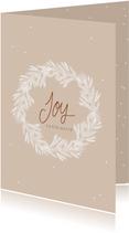 Kerstkaart krans Joy
