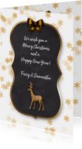 Kerstkaarten - Kerstkaart krijtbord en ijskristallen