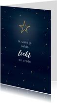 "Kerstkaart ""Licht"""