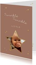 Kerstkaart little star twinkle twinkle