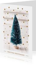 Kerstkaart - Luxe - Goudlook - Prettige feestdagen