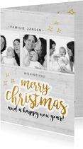 Kerstkaart - merry christmas eigen foto's
